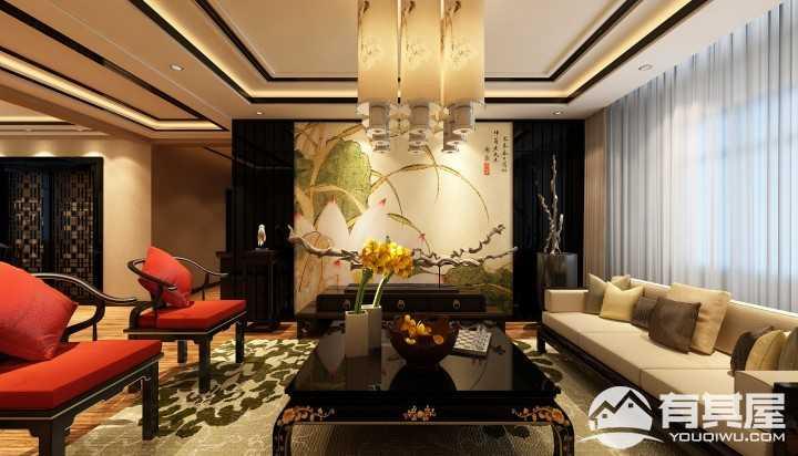 奉天九里新中式风格三居室装修图片