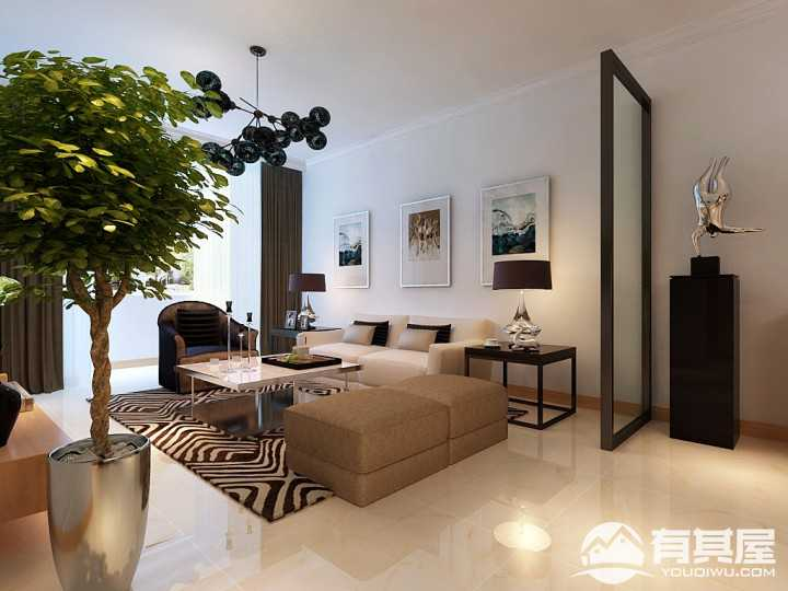 金地滨河国际左岸住宅简约风格二居室装修图片