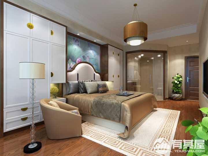 翡翠园中式风格室内装修效果图