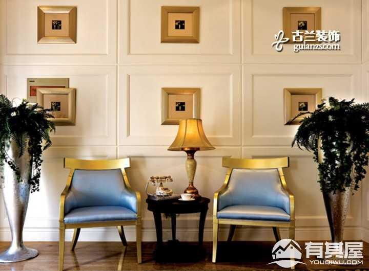 福基旭东现代城简欧风格二居室装饰设计