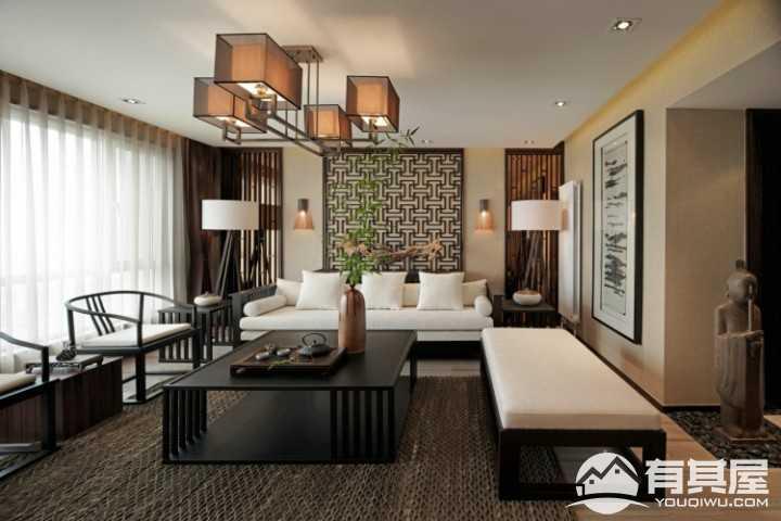 宏泰龙邸东南亚风格三房装修效果图
