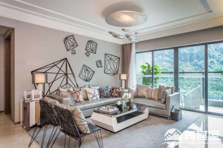 十九城邦简约风格二居室装修案例