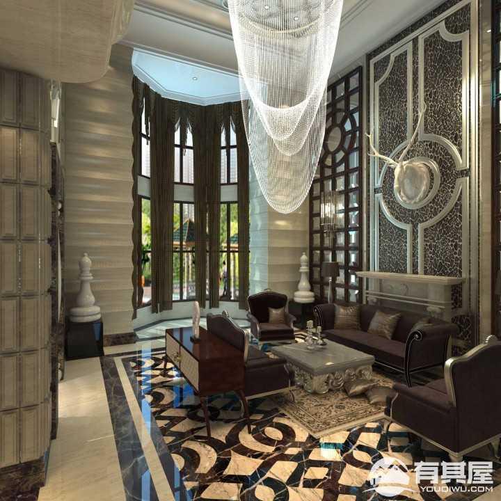 麦迪逊新古典风格豪华别墅装修图