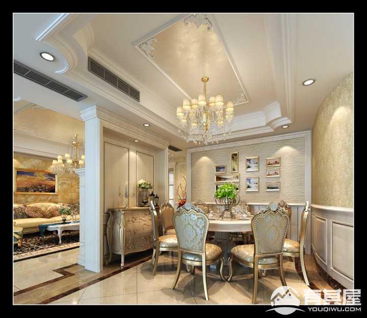 湘江豪庭简欧风格四居室装修案例