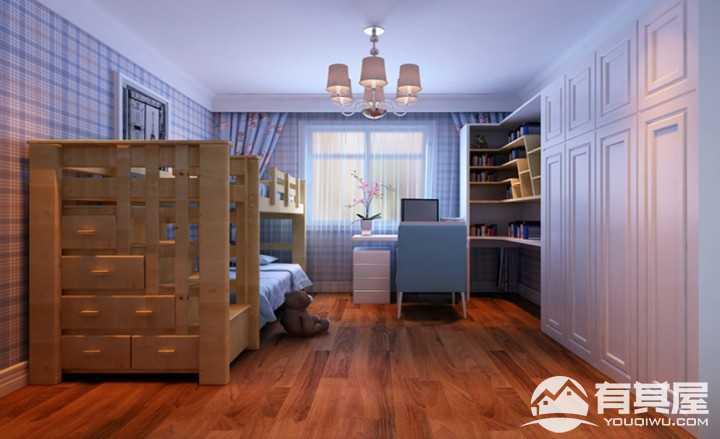希望加州华府150平米三居室中式装修设计