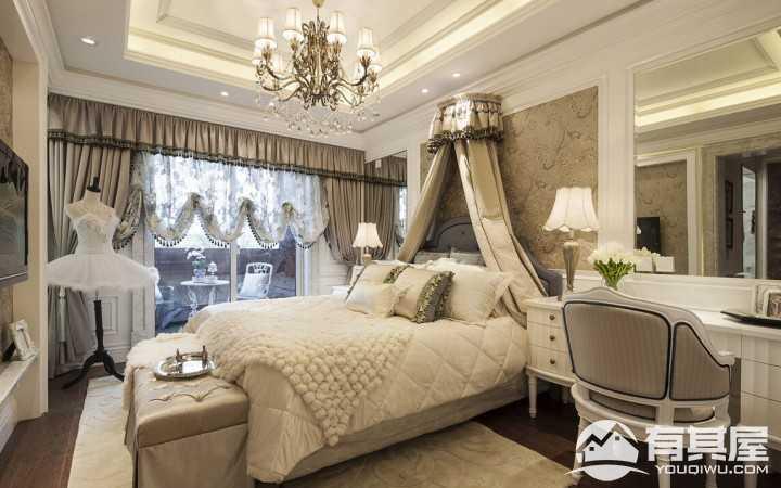 欧美古典风格豪华别墅装修效果图