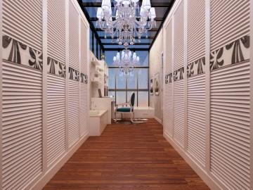 香格里三居室现代风格方案设计