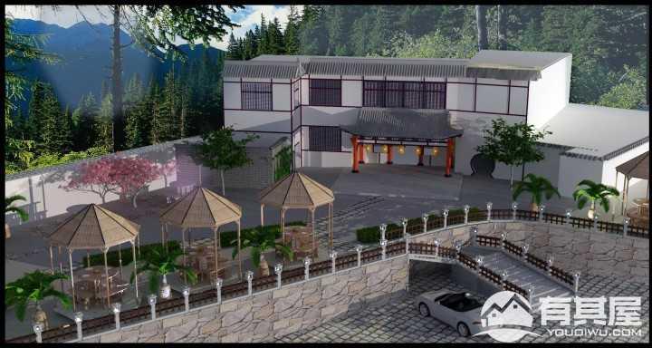 月湖公园农家乐装修设计效果图方案