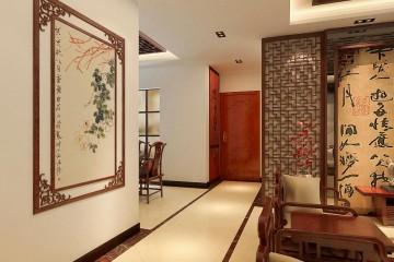 万科新都会三室两厅中式风格装修效果图