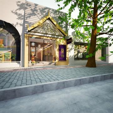 上海蘭泰式古法按摩会所装修设计效果图