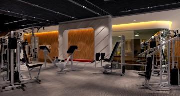哈尔滨健身房装修效果图设计