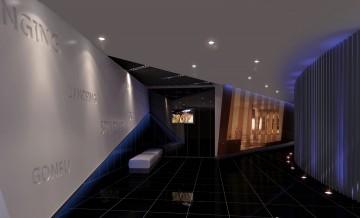 哈尔滨健身房门厅设计
