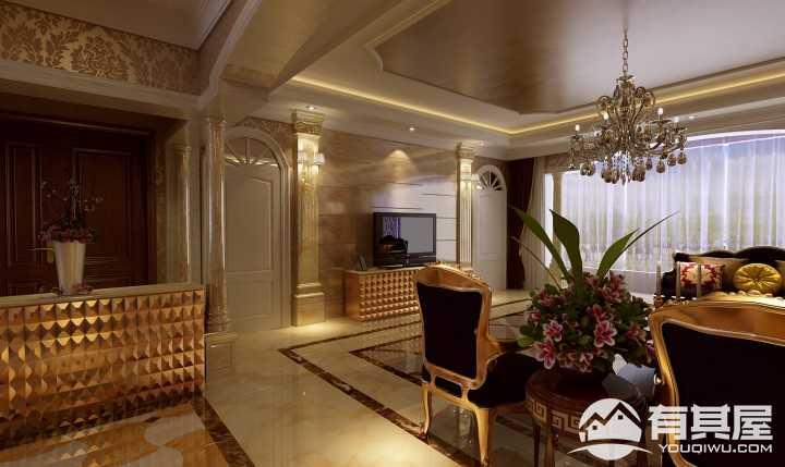 明大颐园欧式古典风格四居室装修设计案例
