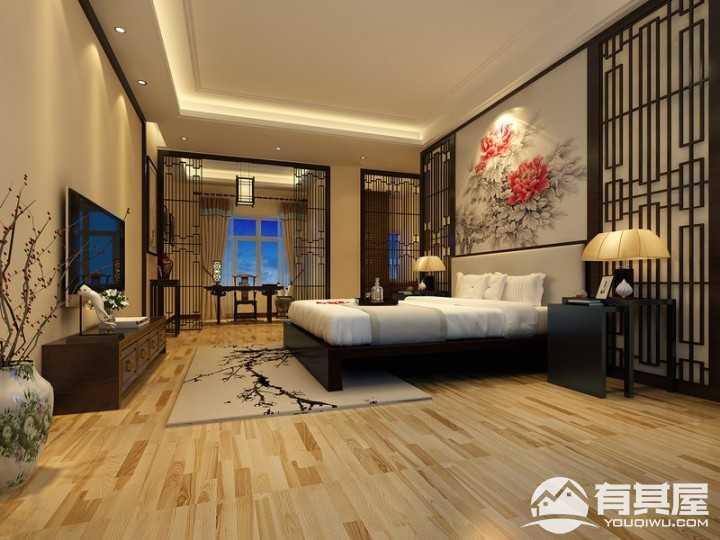 怡翠玫瑰园新中式风格复式装修设计案例