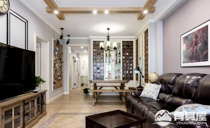 芙蓉万国城美式风格三居室装修设计方案