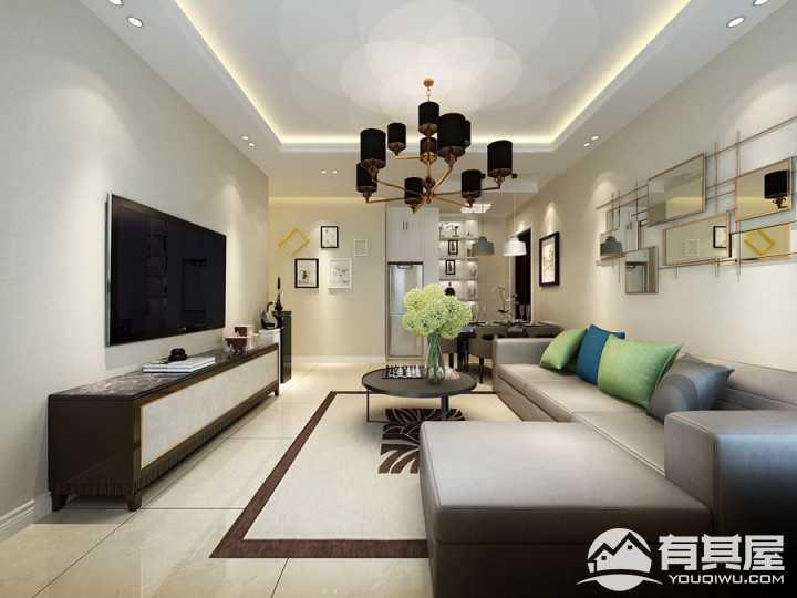 中江嘉城现代风格160平米装修效果图