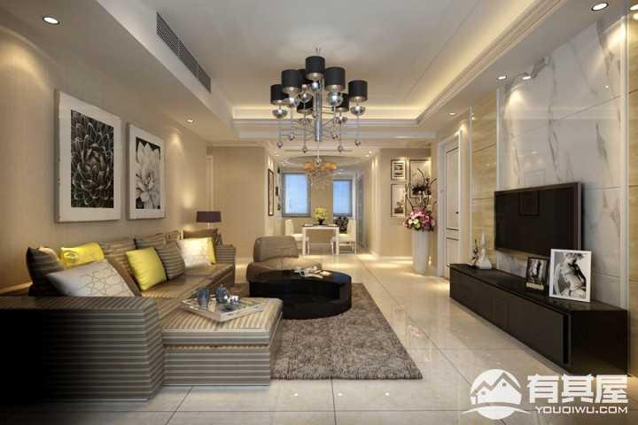 加州蓝湾现代风格三居室装修设计