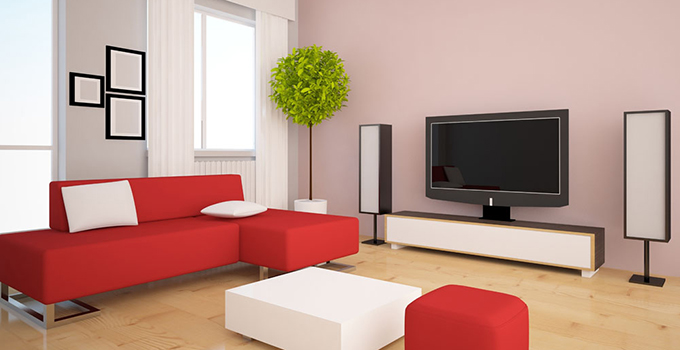 酒红色家具