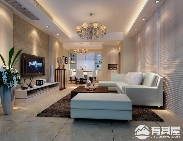 泰地现代简约风格三居室装修效果图