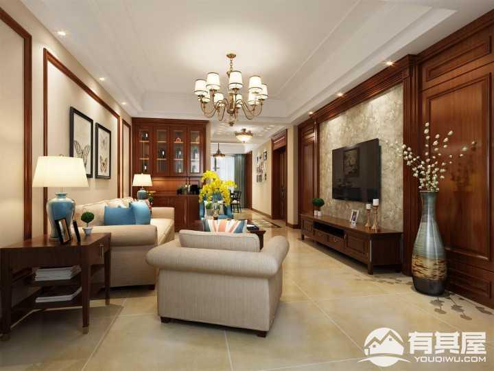 欧景名城新中式风格家装设计案例