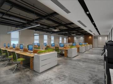 色彩混搭办公室装修效果图