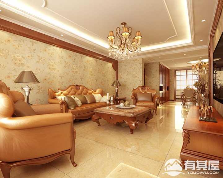 力高豪园欧式风格室内装修案例