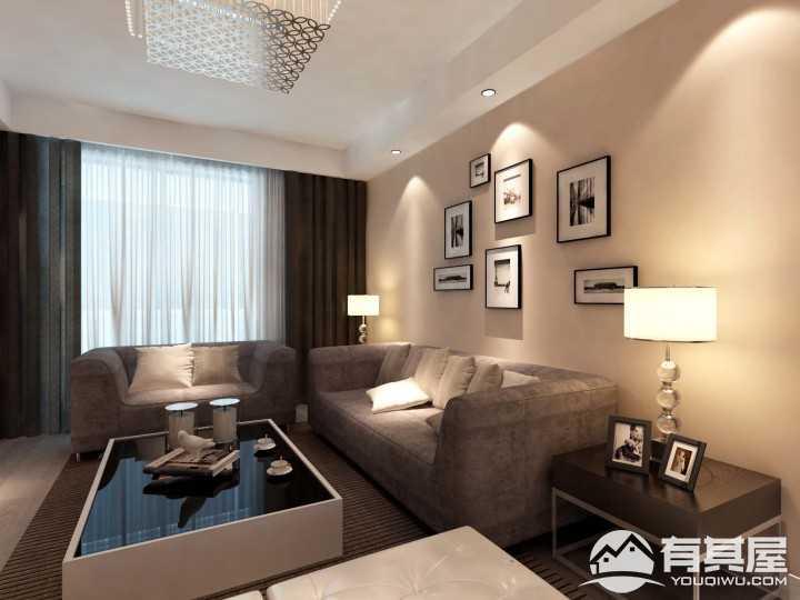 同科D17现代简约风格三室两厅装修效果图