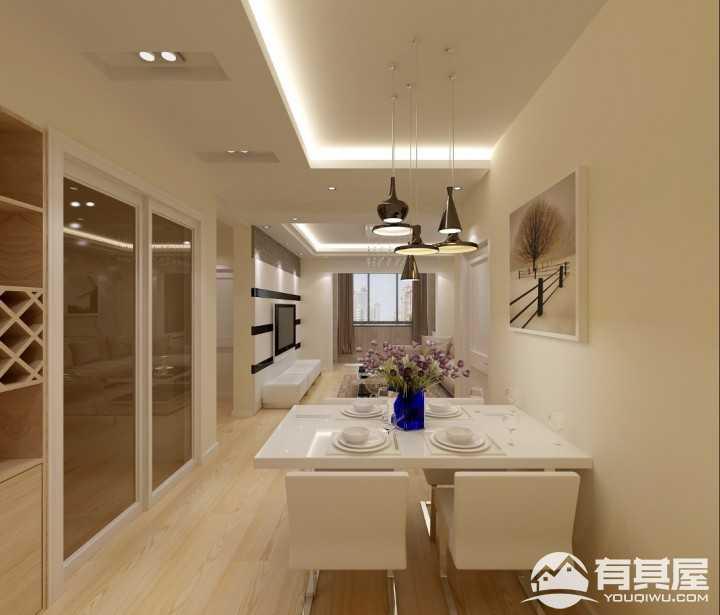 绿地世纪城简约风格两室两厅装修效果图