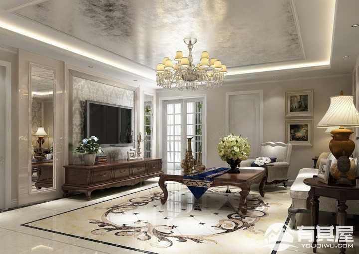 翠湖湾145平米欧式风格三居室装修设计