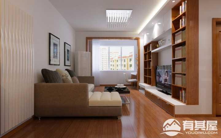 香缇树新中式风格二居室装修效果图