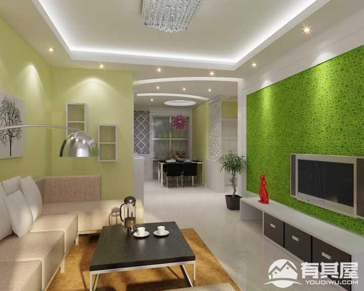 水青木华清新田园风格二居室装修设计