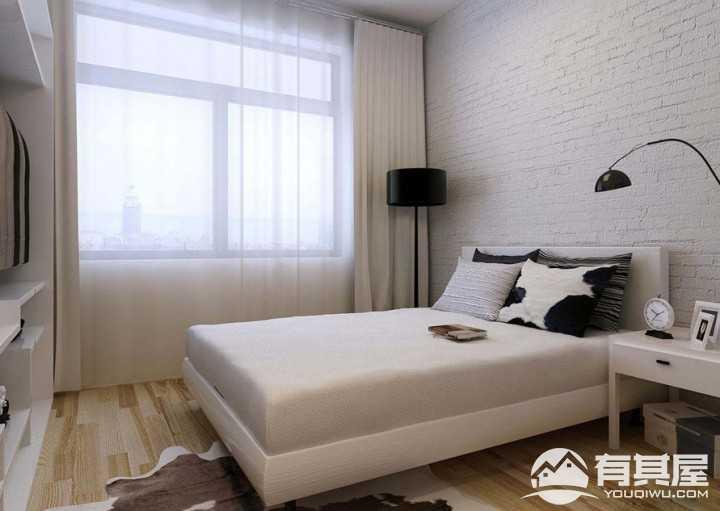 白色经典简约风格75平米装修效果图