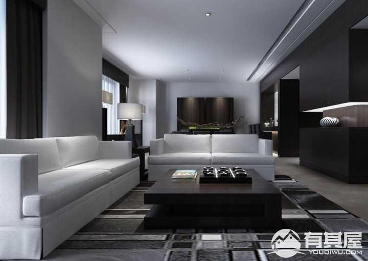 自由主义现代简约风格220平米家居装修设计