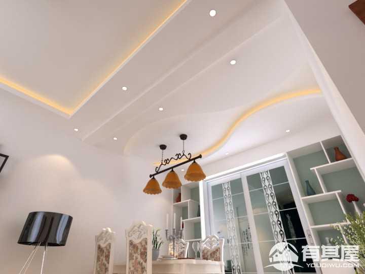 西虞天成现代简约风格两室两厅装修效果图