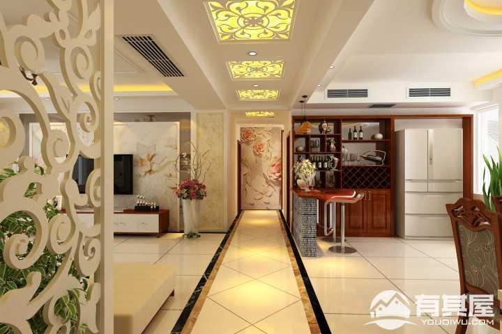 盛世家园160平米混搭风格四室两厅装修图