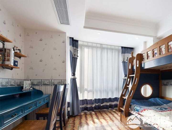 清新格调地中海风格室内装修样板房