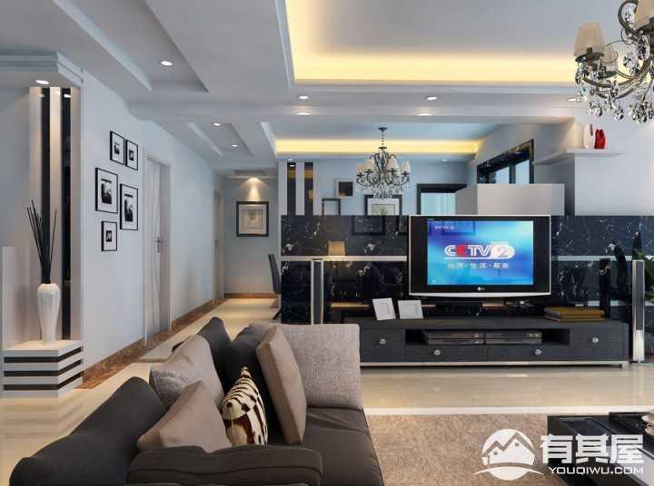 蒸湘世纪城现代风格三居室装修设计图片