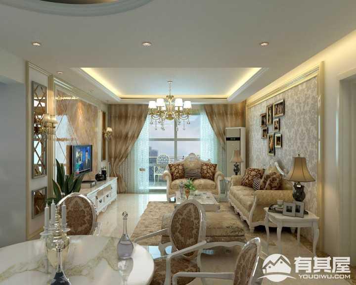 兰贵园简欧风格三室两厅装修效果图