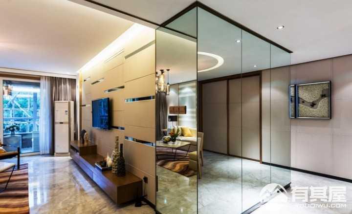 传统与现代新中式风格二居室装修案例