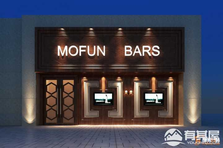 时代广场二期工装450平LOFT风格酒吧装修案例