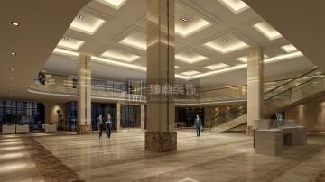 三杨服饰办公楼大厅装修效果图