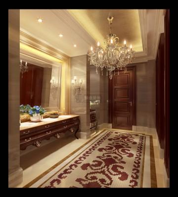 豪华大型古典卫生间 ...