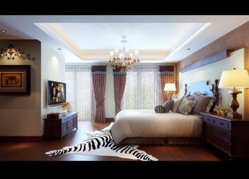 金水湾美式风格卧室装修效果图