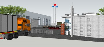 钢筋加工厂装修设计效果图