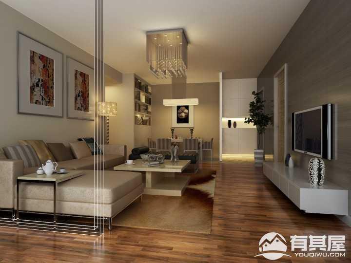 建丽花园现代风格客厅设计案例