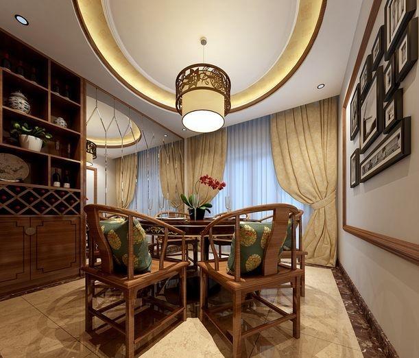 中式家装效果图赏析 打造典雅高贵家装效果