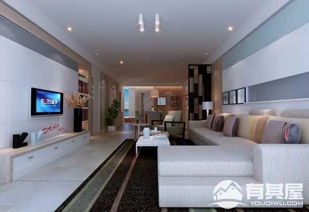 广电兰亭时代现代简约风格三居室装修效果图