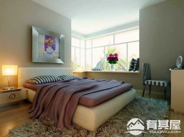 星悦城三期悦彩现代风格91平三居室装修