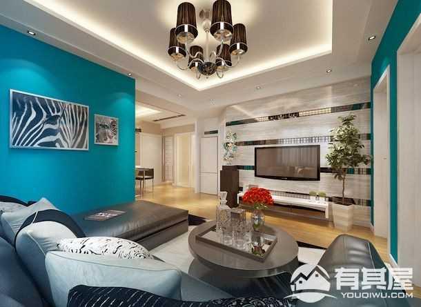 星悦城现代风格80平二居室装修效果图