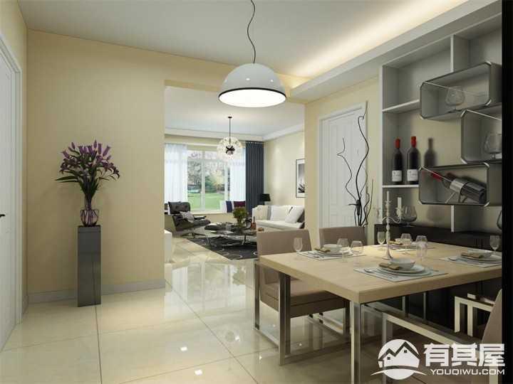 雅仕兰庭现代简约风格二居室装修案例